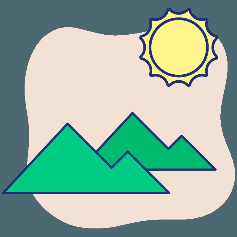 Ilustración montañas